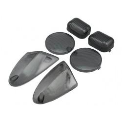 Стекла поворотников и стопа STR8, Aprilia SR50 2000, black