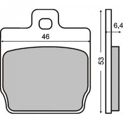 Тормозные колодки RMS Yamaha Aerox(задние), Slider