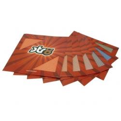 Декоративная сетка 30х30см, Оранж неон
