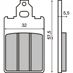 Тормозные колодки RMS. Malaguti F12 F15