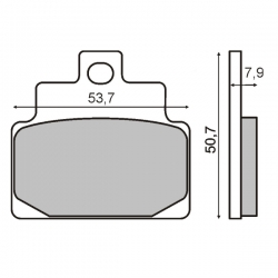 Тормозные колодки RMS. Aprilia Leonardo / Scarabeo / MP3