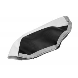 Обшивка сидушки Yamaha Aerox, черно-белая