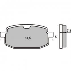 Тормозные колодки RMS S17. Yamaha Jog