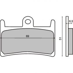 Тормозные колодки RMS Yamaha T-MAX