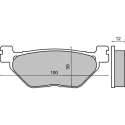 Тормозные колодки RMS Yamaha T-MAX задние