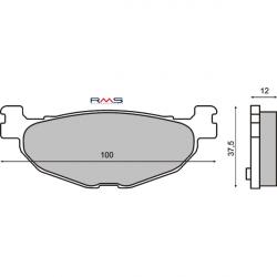 Тормозные колодки RMS Yamaha T-MAX 500 / Majesty 400 задние
